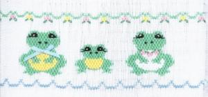 Cross-eyed Cricket Froggie Family #169 Smocking Plate