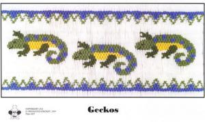Cross-eyed Cricket 207 Geckos Smocking Plate