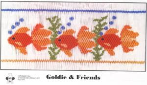 Cross-eyed Cricket Goldie & Friends #208 Smocking Plate