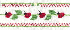 Cross-eyed Cricket  Ladybug Lineup #215 Smocking Plate
