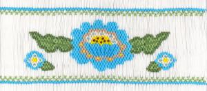 Cross-eyed Cricket  Pat's Posies #177  Smocking Plate