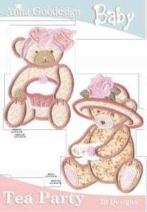 Anita Goodesign 11BAG Baby Tea Party Baby Collection Multi-format Embroidery Design Pack on CD