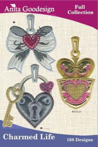 Anita Goodesign 94AGHD Charmed Life Full Collection Multi-format Embroidery Design Pack on CD