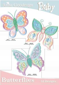 Anita Goodesign 13BAG Baby Butterflies Collection Designs CD