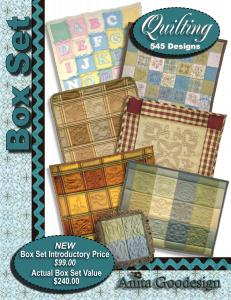 Anita, Goodesign, BX012, Quilting, 1, Multi, format, Embroidery, Design, Pack, CD