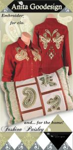 Anita Goodesign 93AGHD Fashion Paisley Multi-format Embroidery Design Pack on CD