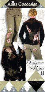 Anita Goodesign 78AGHD Designer Roses 2 Multi-format Embroidery Design Pack on CD