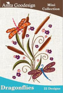Anita Goodesign 20MAGHD Dragonflies Mini Collection Multi-format Embroidery Design Pack on CD