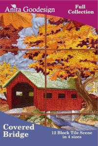 Anita Goodesign 99AGHD Covered Bridge Full Collection Multi-format Embroidery Design Pack on CD
