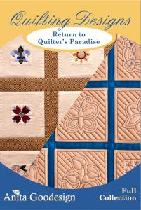 Anita Goodesign 111AGHD Return to Quilter's Paradise Full Collection Multi-format Embroidery Design Pack on CD