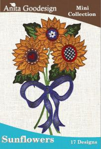 Anita Goodesign 13MAGHD Sunflower Mini Collection Embroidery Design CD