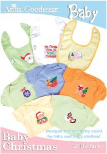 Anita Goodesign 15BAG Baby Christmas Baby Collection Multi-format Embroidery Design Pack on CD