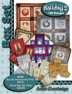 Anita Goodesign BX009 Holiday 2 Multi-format Embroidery Design Pack on CD