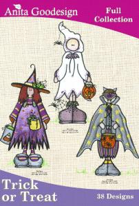 Anita Goodesign 51AGHD Trick or Treat Full Collection Multi-format Embroidery Design Pack on CD