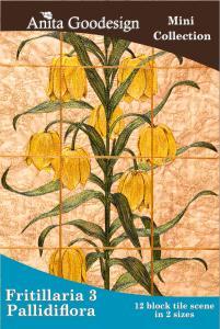 Anita Goodesign 68MAGHD Fritillaria Pallidiflora Flower 3 Multi-format Embroidery Design Pack on CD