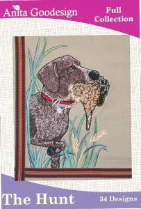 Anita Goodesign 24AGHD The Hunt Full Collection Multi-format Embroidery Design Pack on CD