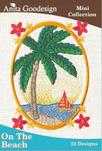 Anita Goodesign 39MAGHD On the Beach Mini Collection Multi-format Embroidery Design Pack on CD