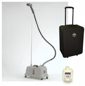 Jiffy COMBO J-4000 Proline Commercial Garment & Fabric Steamer, PLUS 0890 Travel Carrying Case, AND Bottle of Jiffy Boiler Cleaner FREE