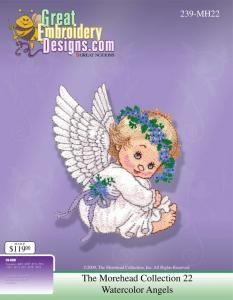 Great, Notions, 112265, Morehead, MH22, 239C-MH22, WATER, COLOR, ANGELS, Multi, Formatted, CD, Embroidery, Designs
