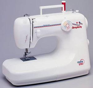 Simplicity SA-1500 38 Stitch Function Creative Spirit Sewing Machine by Sunbeen, Buttonhole, Pressure Adj. Drop Feed & Metal Gears