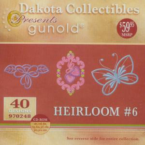 Dakota Collectibles 970248 Gunold Heirloom #6 Embroidery Designs Multi-Formatted CD