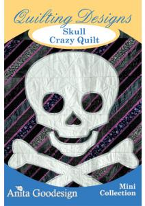 Anita Goodesign 78MAGHD Skull Crazy Quilt Mini Quilting Collection CD, 25 Designs