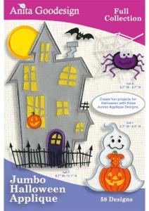 Anita Goodesign 1126AGHD Jumbo Halloween Applique Multi-format Embroidery Design Pack on CD, 58 Designs