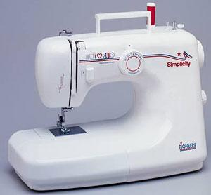 Simplicity SA-200 18 Stitch Function Pioneer Basic Freearm Zig Zag & Manual Buttonhole,  Full Size Metal Gears Sewing Machine with Adj. Stitch Length