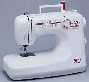 Simplicity SA 2200-45-Stitch Function 1 Step Buttonhole Creative Spirit Sewing Machine, Metal Gears, Pressure Adj. & Drop Feed Controls