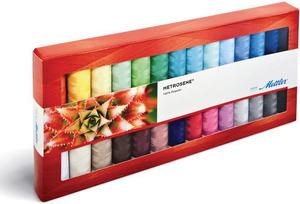 28/PACK   -THREAD ASST ART 1161, Mettler Metrosene Plus 28CV Poly Sewing Thread Kit 28 Colors x 164Yds