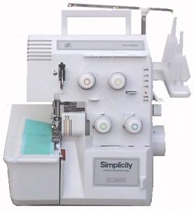 Simplicity SL890DK Knee lift and Metal Case Serger - Same as Baby Lock  BL428DK MADE IN JAPAN, with Video & Workbook - Factory Serviced