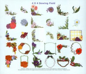 Dakota Collectibles 970143 Floral Borders & Accents  Embroidery Designs Multi-Formatted CD