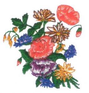 Amazing Designs ENHMC 1101 / 101 Floral I Elna, Janome,  Embroidery Card