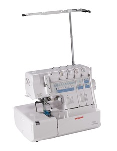 Janome 1200D, (Elna 745) Overlock Serger, Top & Bottom, Cover Hem Stitch, Machine, 34&5 Threads, Auto Tension, Differential Feed, Rolled Hem, Janome 1200D Serger by Hosie Ja, Top & Bottom CoverHem Stitch Machine 2345Threads, AutoTension, Differential Feed, Roll Hem (Elna 745) w/oTilt Needle*
