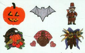 Amazing Designs ENHMC  1105 / 105 Fall Holiday Collection I Elna/Janome Embroidery Card