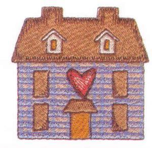 Amazing Designs ENHMC 119 Home Spun Heartland Janome / Elna Embroidery Card