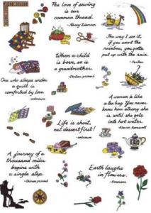 Amazing Designs ENHMC NZ7 Nancy Zieman Collection VII Threads of Wisdom Janome Elna Embroidery Card