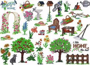 Amazing Designs PFMC NZ1 Nancy Zieman Memories of Home Pfaff  Embroidery Cards