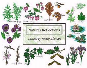 Amazing Designs PFMC NZ2 Nancy Zieman's Nature's Reflections Pfaff Elna Embroidery Cards