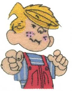 Amazing Designs PFMC DM1 Dennis the Menace Collection I Pfaff Embroidery Card