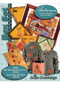Anita Goodesign BX018 Autumn Box Set Embroidery Collection