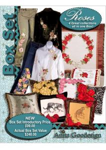 Anita Goodesign BX023 Roses Box Set Embroidery Designs Collection CD's