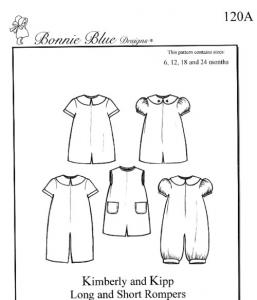 Bonnie Blue BBDP120 Kimberly-Kipp Size 6-24mo & 3-5yrs