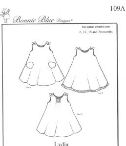 Bonnie Blue BBDP109 Lydias Swing Play Dress, Smock Jumper, Panty Pattern  Size 6mo-24mo or 2 yrs-6