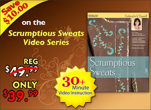 CD00100, Designs, Machine, Embroidery, Embroider, Yourself, Scrumptious, Sweats, Video, Series,