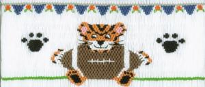 Cross-eyed Cricket  CEC158 Tiger's Football Smocking Plate