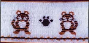 Cross-eyed Cricket  CEC123 Terry's Tiger Smocking Plate