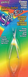 Havel 76497 SnipEze  Easy Squeeze Curved Comfort Scissors, Spring Loaded, for Embroidery Thread Trim