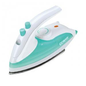 Conair DPP143 EZ Press Steam Iron Compact Travel, DUAL VOLT, 800W, VarTemp, Steam Burst, Dry Switch, Stainless Steel Soleplate, AntiSlip Heel, 8' Cord