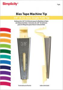 "Simplicity 881965 Bias Tape Maker Tip, Makes 3/8"" Inch Single Fold Bias Tape"